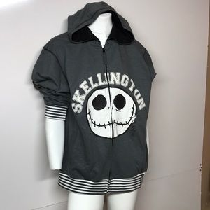 Disney store Jack Skellington hoodie NWT